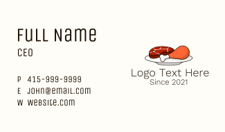 Hot Meat Plate Business Card