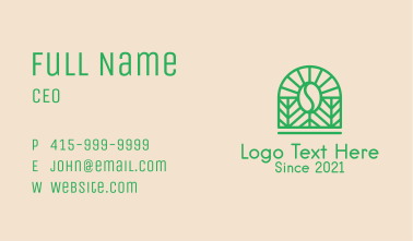 Green Coffee Farm Business Card