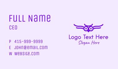 Purple Owl Aviary  Business Card