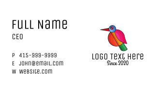 Geometric Minimalist Bird Business Card