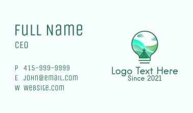 Lightbulb Outdoor Camp  Business Card