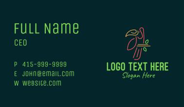 Tropical Bird Monoline Business Card