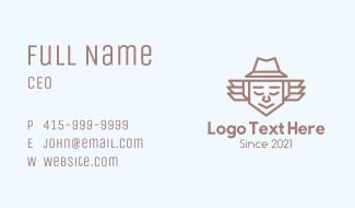 Minimalist Father Hat Business Card