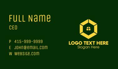 Yellow Hexagon Window Business Card