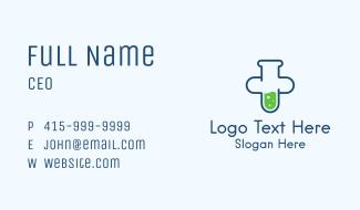 Test Tube Cross Business Card