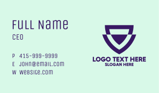 Violet Corporate Emblem Business Card