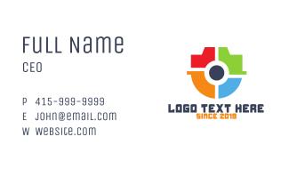 Colorful Surveillance Shield Business Card
