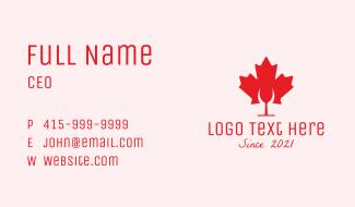 Canadian Cocktail Bar Business Card