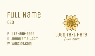 Geometric Flower Decor  Business Card