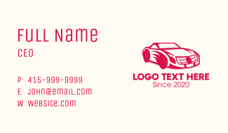 Red Sports Car Business Card