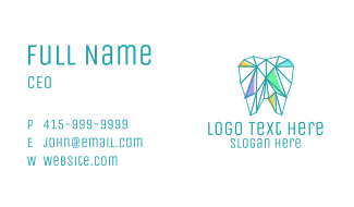 Geometric Dentist Tooth Business Card