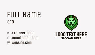 Green Lion Head Business Card