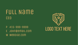 Military Eagle Shield Business Card