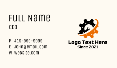 Industrial Hardware Wrench  Business Card