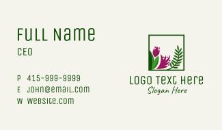 Natural Flower Fern  Business Card