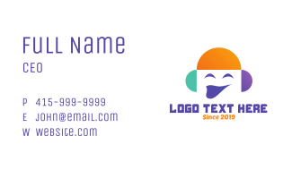 Smiling Media Face Business Card