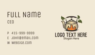 Herbal Tea Teapot Kettle Business Card