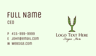 Forest Wine Glass Business Card