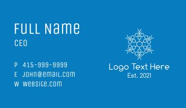White Snowflake Line Art  Business Card