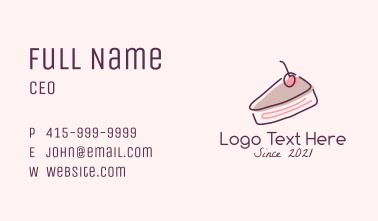 Cheesecake Slice Business Card