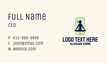 Online Smartphone Yoga Instructor Business Card
