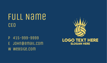 Volleyball Crown Business Card