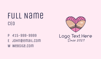 Heart Erotic Booty  Business Card