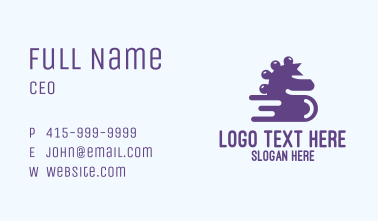 Fast Violet Seahorse Business Card