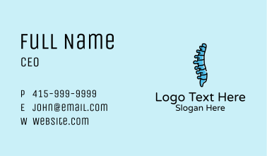 Spinal Cord Anatomy Business Card