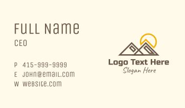 Mountain Sunset Landscape Business Card