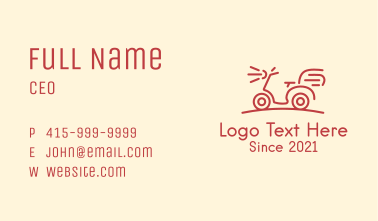 Red Delivery Bike Business Card