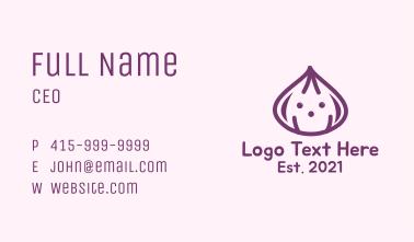 Cute Purple Onion Business Card