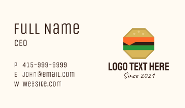 Octagon Cheeseburger  Business Card