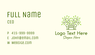 Leaf Vine Sofa Business Card