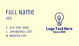 Computer Mouse Light Bulb Business Card
