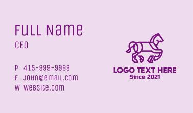 Minimalist Horse Business Card