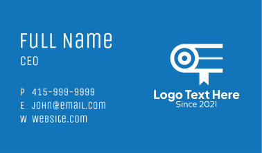 Webcam Online Learning  Business Card