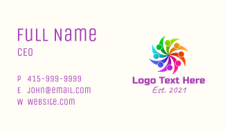 Colorful People Organization Business Card