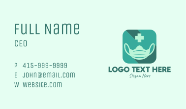 Face Mask Medical App  Business Card