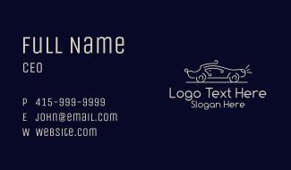 Retro Convertible Car Business Card