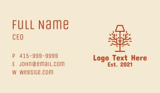 Orange Lamp Decor Business Card