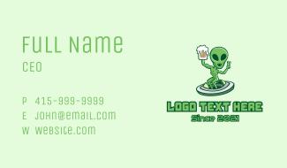 Martian Alien Beer  Business Card