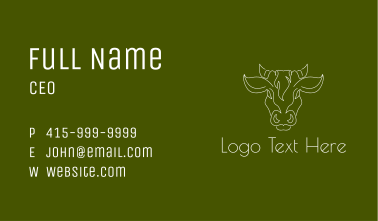 Forest Cow Head Business Card