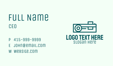 Simple Media Projector  Business Card