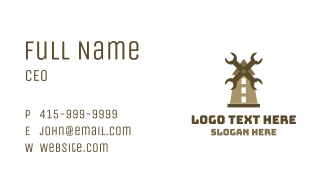 Wrench Mill Business Card
