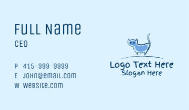 Blue Cat Doodle  Business Card