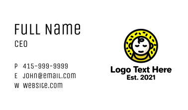 Yellow Baby Food Business Card