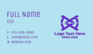 Blue Tech Symbol Business Card