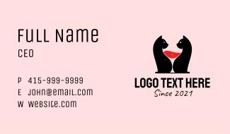 Feline Wine Bar  Business Card