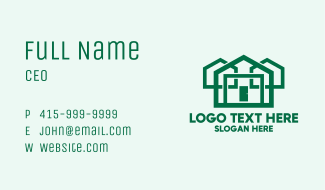 Eco Friendly House Construction Business Card